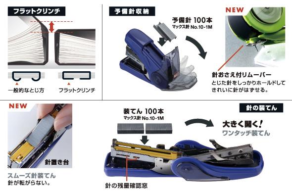フラットクリンチ 予備針100本付き2枚~20枚 サクリフラット HD ...